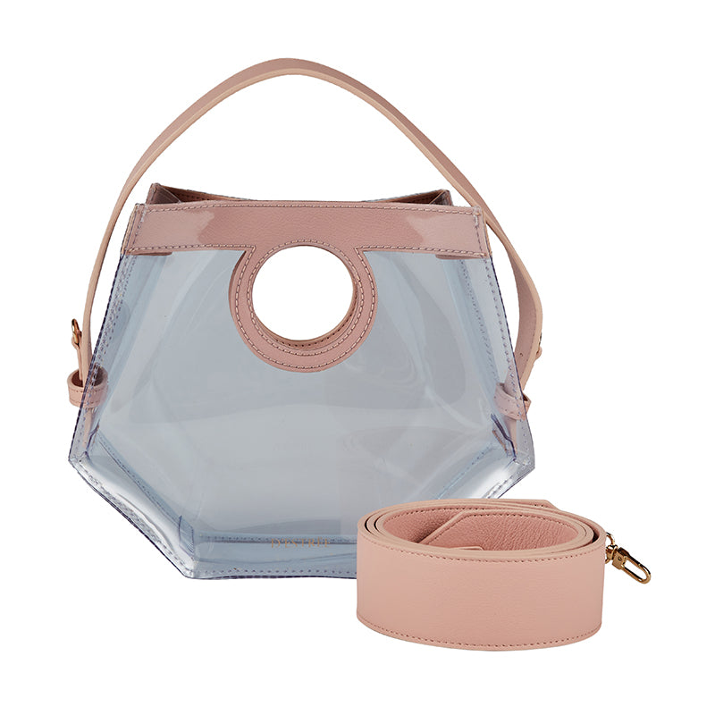 Mini Joan Pink Vinyl Bag