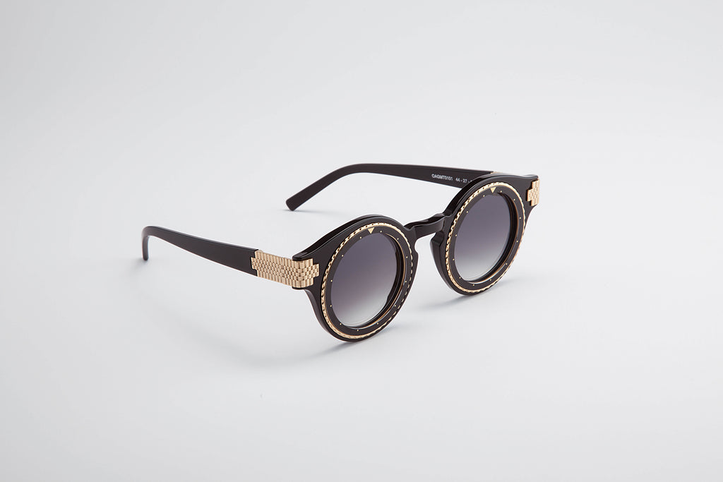 Timeshades Sunglasses Black and Gold