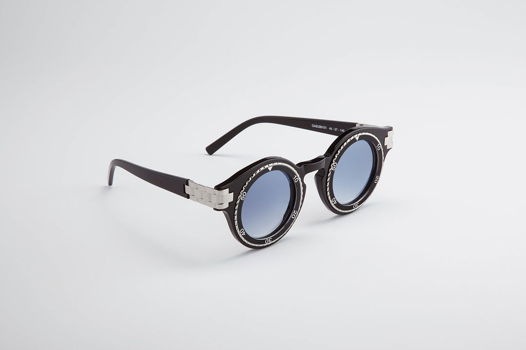Timeshades Sunglasses Black Silver