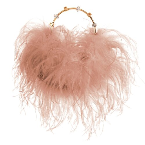 Nude Feather Pouch Luxury Designer Clutch
