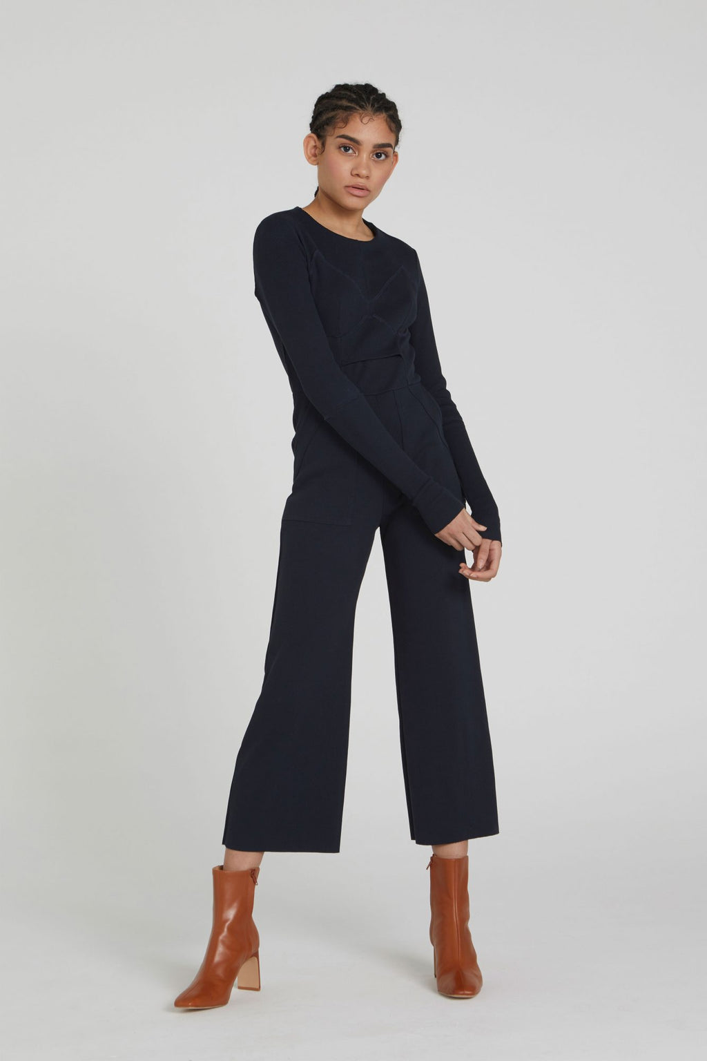 Cotton Rib Jumpsuit
