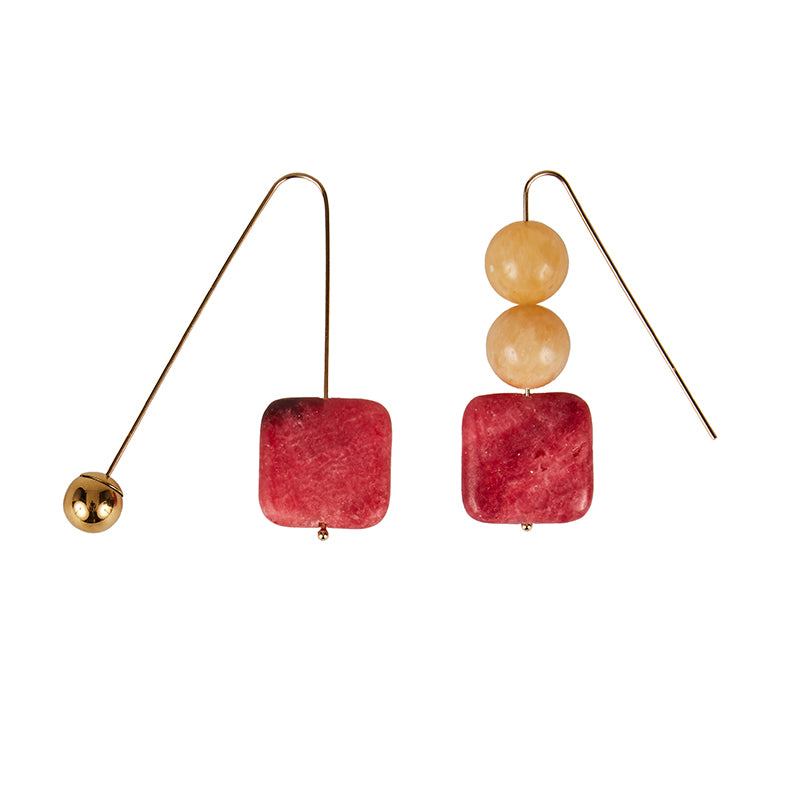 Sonia Yellow Pink Earrings