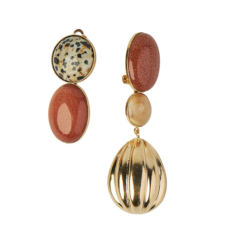 Sonia Red Shell Earrings
