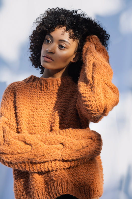 Sweater Chloe in Terracotta