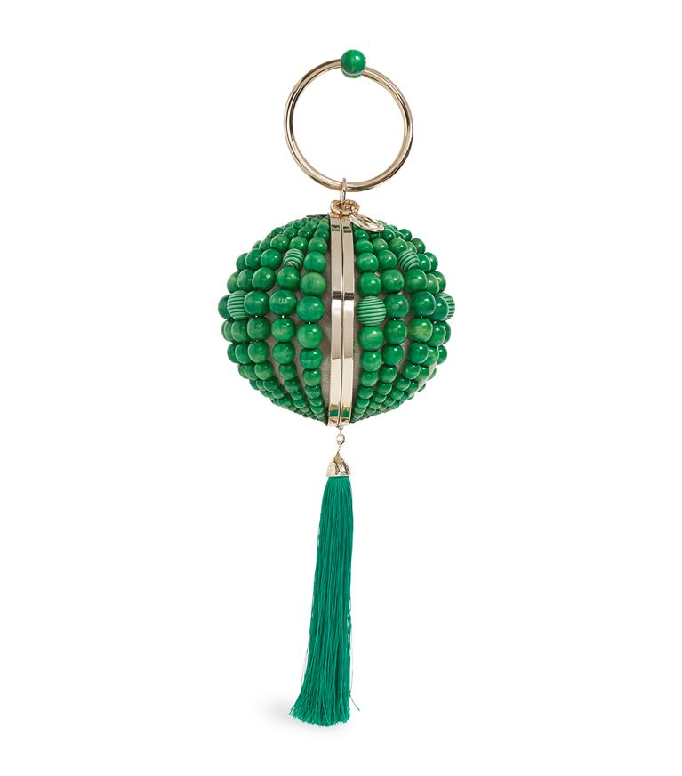 Emerald Billie Metallic Sphere Clutch Bag