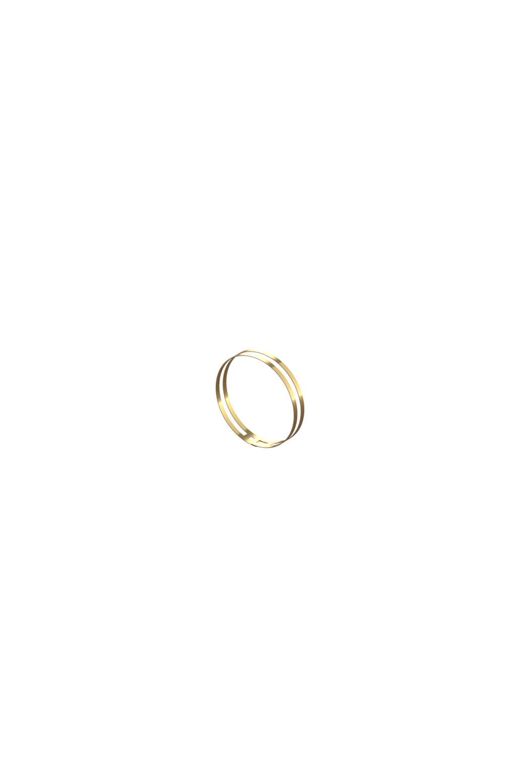 Double line gold ring