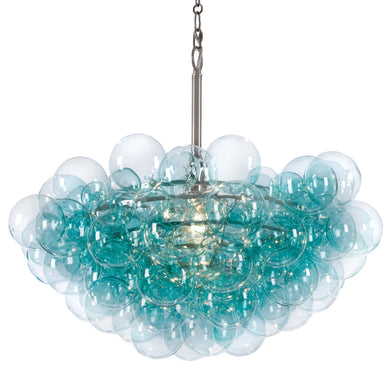 Aqua Chandelier with bubble light