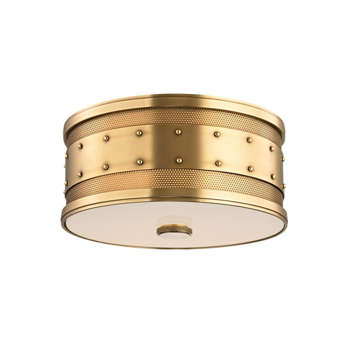 Designer antique brass flush mount light
