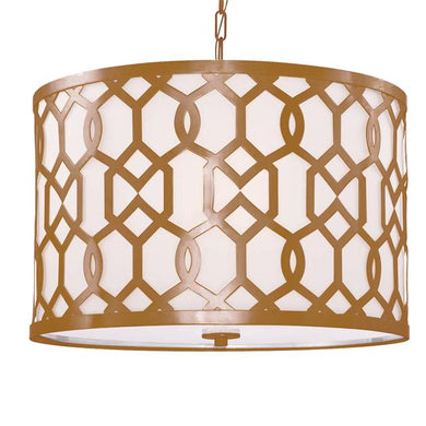 Jennings 5 Light Aged Brass Chandelier