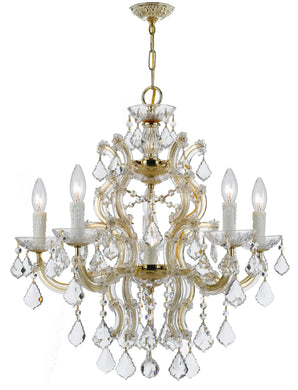 Gold crystal chandelier light