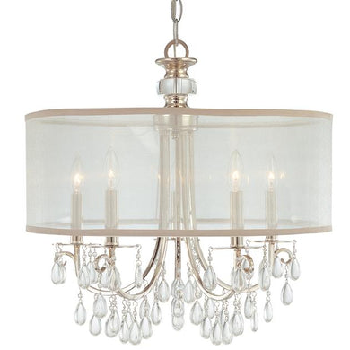DRUM SHADE CHANDELIER LIGHT