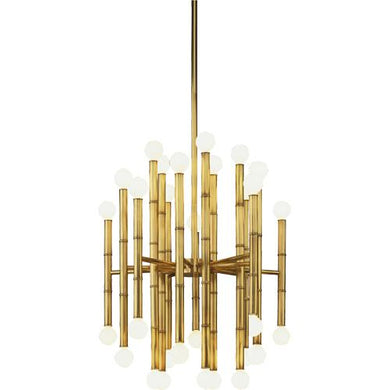 Meurice Round 30-Light Chandelier - Modern Brass