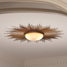 Load image into Gallery viewer, Sunburst Flush Mount - Gold