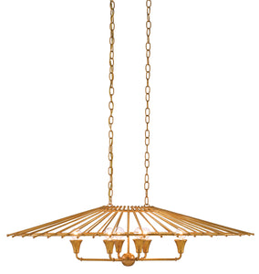 gold leaf chinese, japanese tea house chandelier