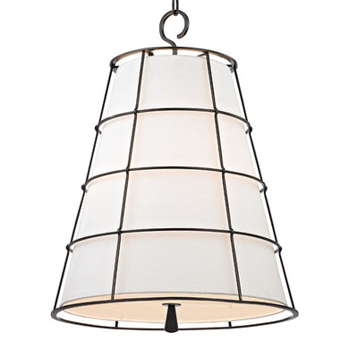 Cone shaped linen pendant