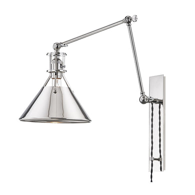 Metal No. 2 Plug-In Wall Lamp