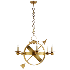 Armillary Sphere Chandelier in Brass