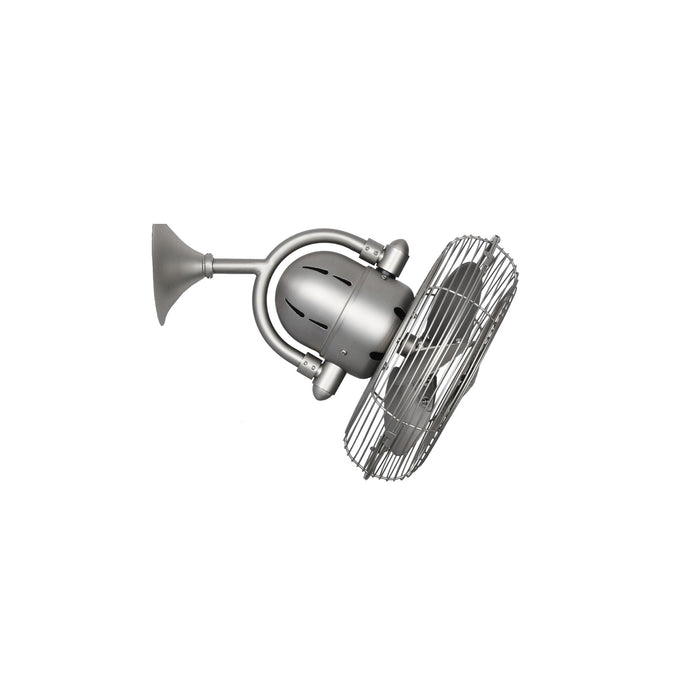 Wall or Ceiling oscillating fan in brushed nickel