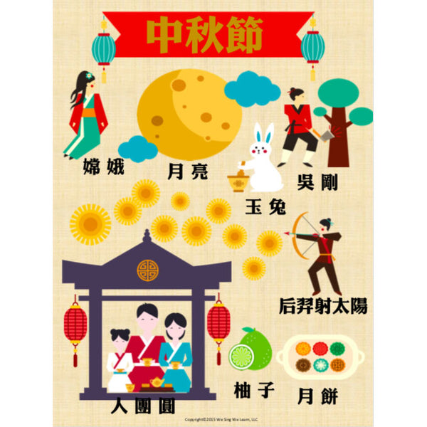 Moon Festival Poster Tradition Chinese 中秋節海報