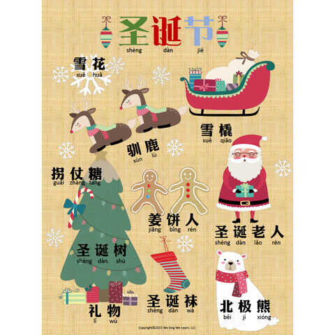 Christmas Poster Simplify Chinese 圣诞节海报