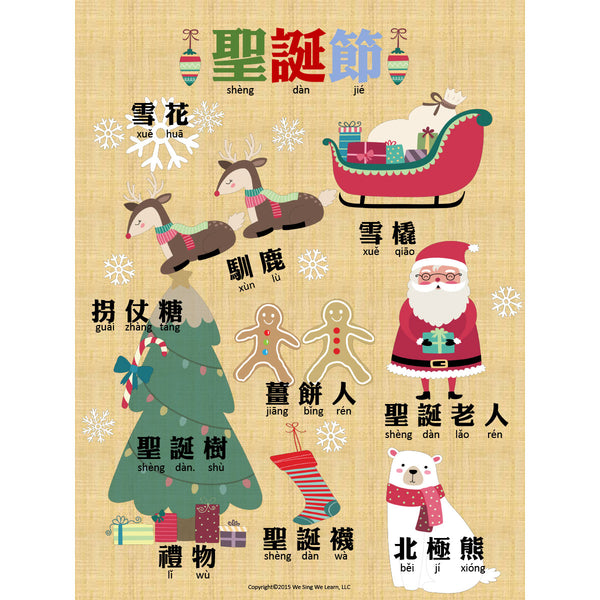 Christmas Poster Traditional Chinese  聖誕節海報