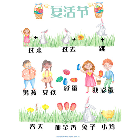 Easter Poster Simplify Chinese 复活节海报