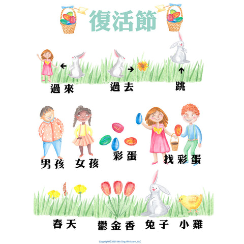 Easter Poster Traditional Chinese  復活節海報