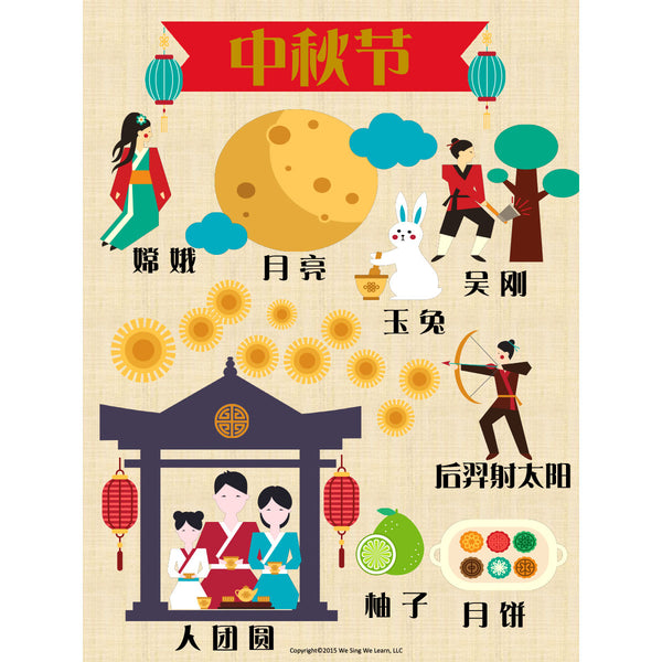 Moon Festival Poster Simplify Chinese 中秋节海报
