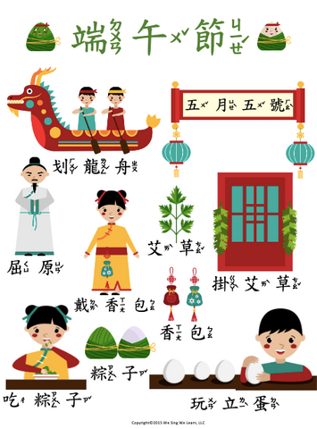Dragon Boat festival Poster Traditional Chinese 端午節海報