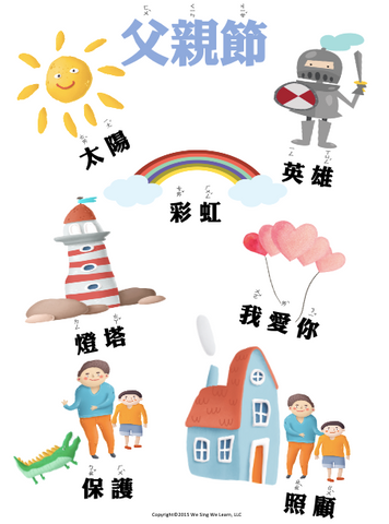 Fathers Day Poster Traditional Chinese 父親節海報