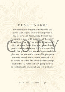 DEAR TAURUS DIGITAL PRINT