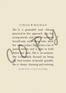 VIRGO WOMAN DIGITAL PRINT