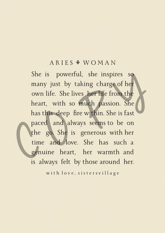 ARIES WOMAN DIGITAL PRINT