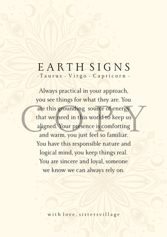 EARTH SIGN DIGITAL PRINT