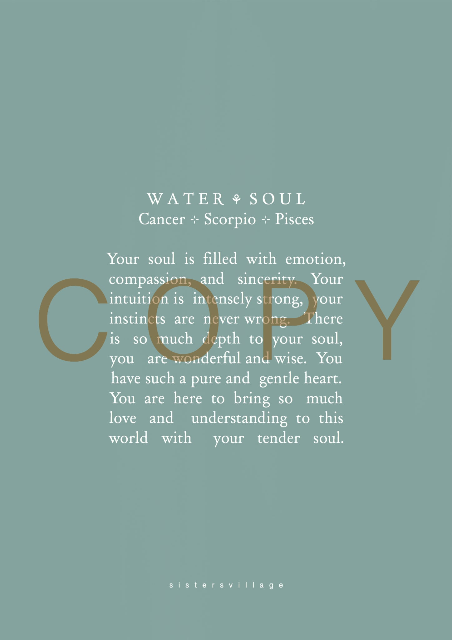 The soul of Water