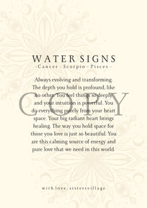 WATER SIGN DIGITAL PRINT