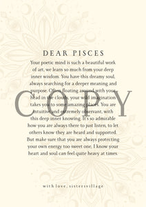 DEAR PISCES DIGITAL PRINT