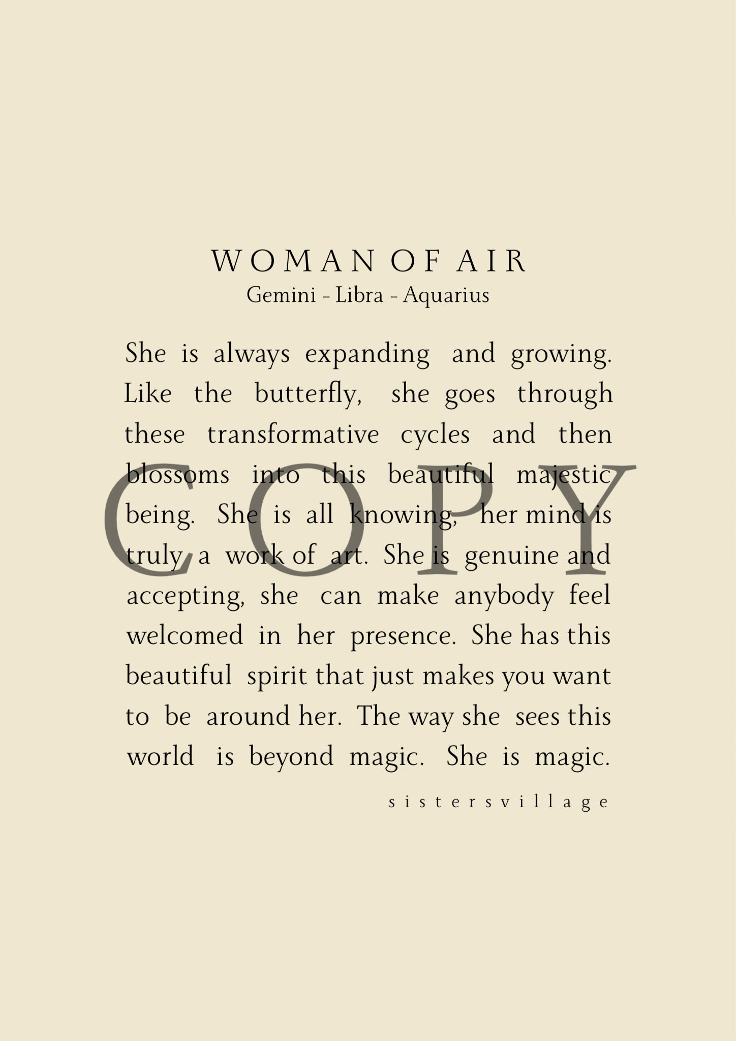 WOMAN OF AIR