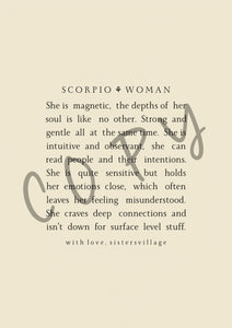 SCORPIO WOMAN DIGITAL PRINT
