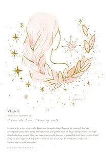 Virgo A4 Digital Print