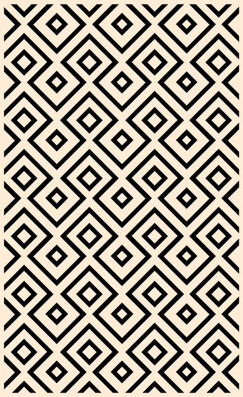 Botticelli Points B & W Rugs Dinning Living & Bedroom Mat Home Décor Area Carpet