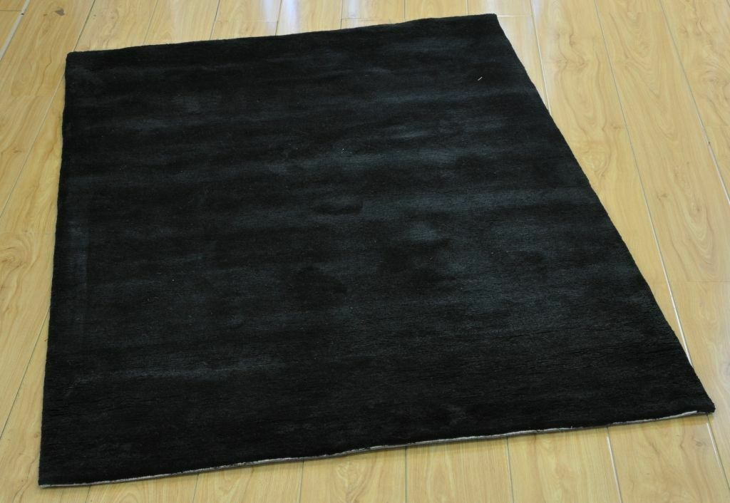 Cashmere Black Hand Tufted Runner Rugs Hallway Floor Mat Home Décor Area Carpet