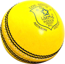 1 Dozen LAEMA Pro Match Low Impact GRADE1 Australian Solid Hide Indoor Cricket Balls
