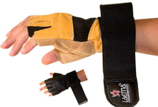 Auth Ultimate Leather Gel Weight Lifting Body Building Gloves Gym Fitness Strap