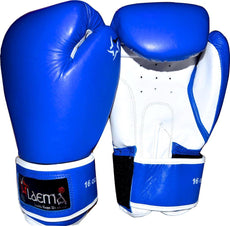 16oz 12oz 10oz Leather Boxing Gloves Sparring Punch Bag Kick Gym MMA Muay Thai