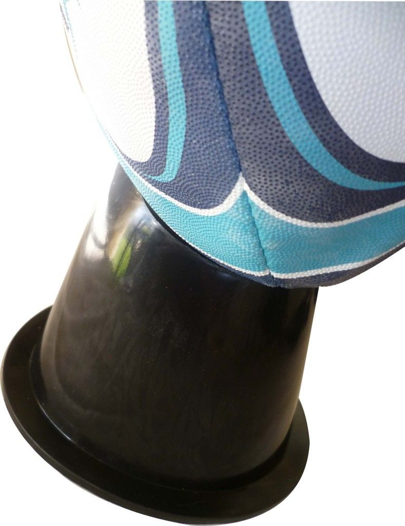 NRL SENIOR RUGBY BALL PRECISION KICKING TEE BLACK