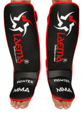 PRO Advance Gel Shin Instep Foot Pads MMA UFC Leg Kick Guards Muay Thai Boxing