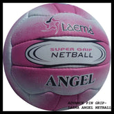 NEW HIGH ABRASION MATCH NETBALL SUPER PIN GRAIN GRIP ANGEL -SZ 5 -- CLEARANCE