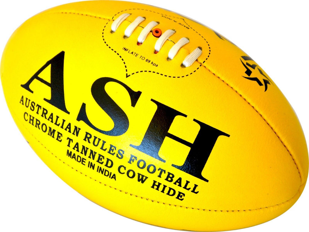 2 X Pro Genuine LEATHER AUSTRALIAN RULES FOOTBALL AFL BALL SIZE 5
