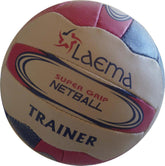 10 X TOURNAMENT MATCH NETBALL SUPER PIN GRAIN GRIP-TRAINER -SZ5 + FREE MESH NET